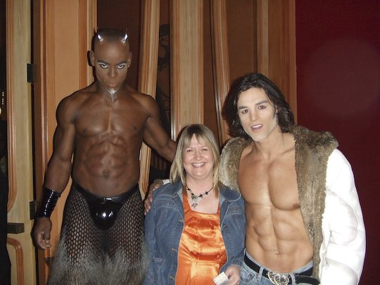 Chris with the cast of Zumanity