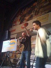 Aaron Brazell & Jeremy Wright signing Karaoke